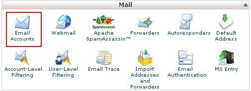 ساخت اکانت ایمیل در Cpanel