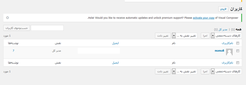 user accounts- قرار دادن پسورد روی بخش های حساس در وردپرس