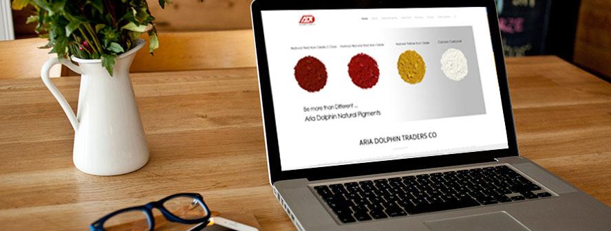 طراحی سایت شرکت تاجران آریا دلفین