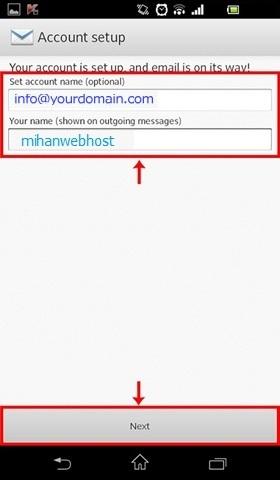تنظیم اکانت ایمیل برای گوشیهای اندروید Android