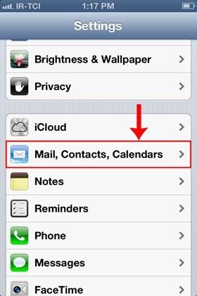 تنظیم اکانت ایمیل هاست روی گوشیهای آیفون iOS