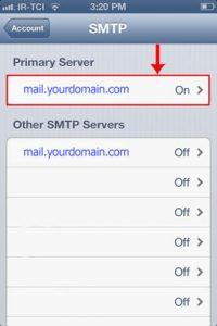 smtp - تنظیم اکانت ایمیل هاست روی گوشیهای آیفون iOS