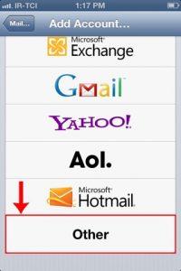 other - تنظیم اکانت ایمیل هاست روی گوشیهای آیفون iOS