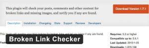 broken link checker- سئوی وردپرس