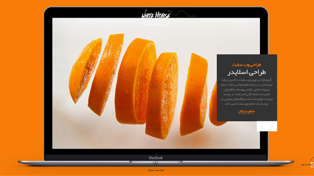 طراحی اسلایدر وب سایت ۳