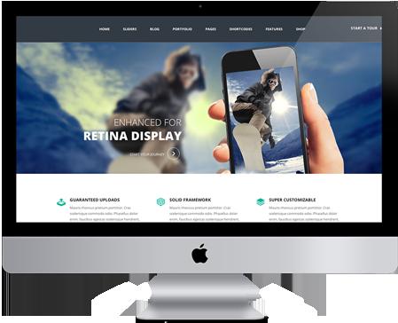 iMac - طراحی اسلایدر وب سایت