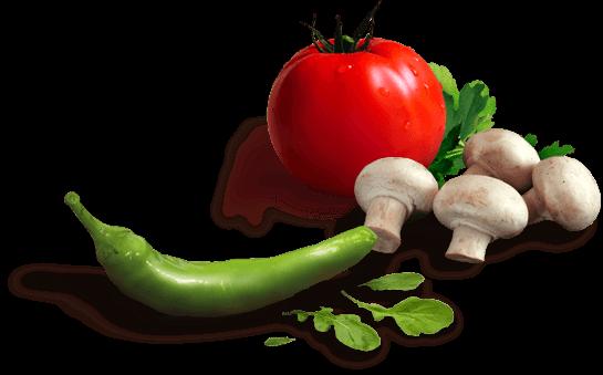 اسلایدر پیتزا - گوجه - فلفل - قارچ